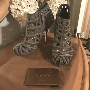 NWB Authentic Gucci caged booties.